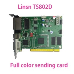 Shenzhen LED Display LINSN Sending Card TS802D Work With Receiving card RV908M32 /901t/ 902 RJ45 Screen Panel