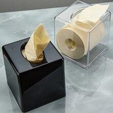 Акриловая прозрачная ткань черная Высококачественная квадратная пластиковая устойчивая к падению бумажная коробка утолщение WF8081132