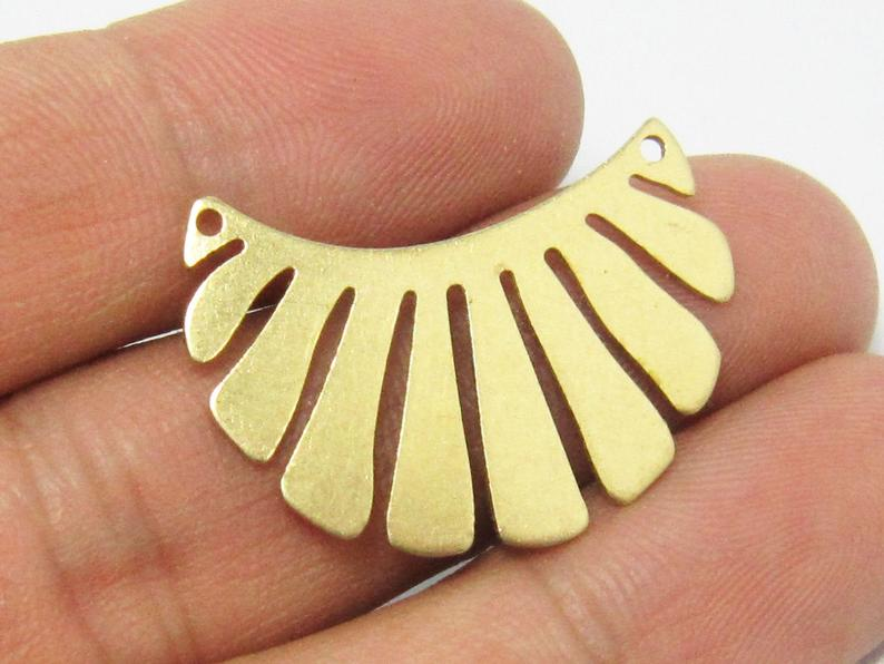 Brass Crown Necklace Connector 30x22x0.8mm Raw Brass Sun Charms -20pcs R725
