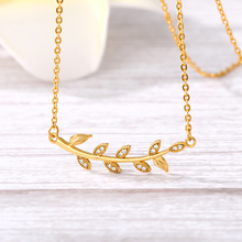 Leaf Shaped Shirt Chain Choker Women Jewelry Gifts Fashion Gold Color Feather Necklace Best Gift For Her Crystal Zircon Copper rhinestone faux crystal feather leaf necklace
