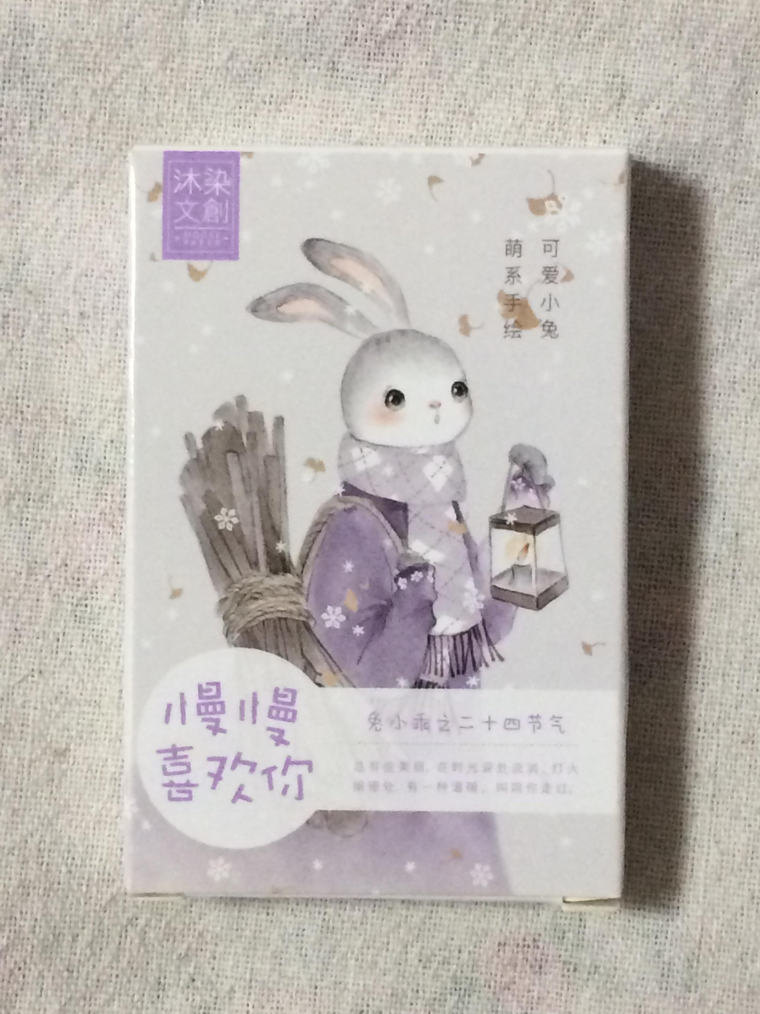 Красивая бумага с кроликом, открытка lomo, 57 мм * 87 мм (1 упаковка = 27 штук)