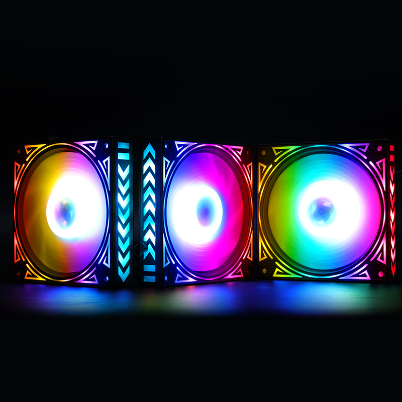 PC fan 12cm RGB cooling fan RGB Adjust LED Fan Speed amazing quiet colorful led computer case For water chestnut chassis Fan