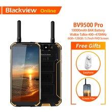 "Blackview bv9500 pro original 5.7 ""smartphone áspero ip68 à prova dip68 água walkie talkie 6gb + 128gb 10000mah 18:9 fhd nfc telefone móvel"