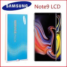 Orijinal AMOLED 6.4 LCD ile çerçeve SAMSUNG GALAXY not 9 LCD Note9 Lcd ekran N960D N960F LCD dokunmatik ekran