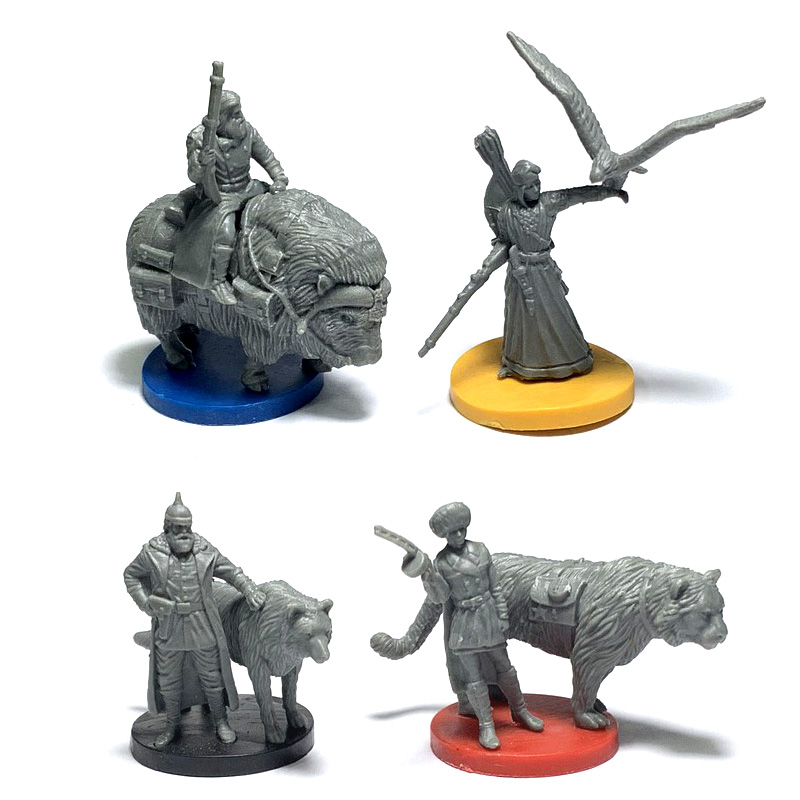 BIXE 4PCS/Set Dungeons & Dragon Marvelous Miniatures With Sword D & D Wars Board Game Figures Role Playing Soldiers Model