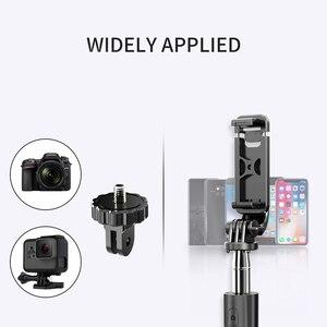 Image 5 - Lewinner L02 hepsi bir arada taşınabilir bluetooth Tripod özçekim sopa Monopod Gopro 7 6 5 spor eylem kamera 1/4 vida görünüm