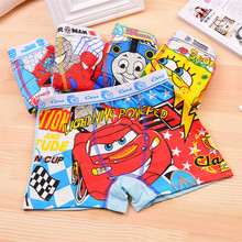 4 pcs/lot Boys Children Underwear Kids 3-11 year Cartoon Cotton Briefs Boy girl Panties Boxer Clothing Girls underwear