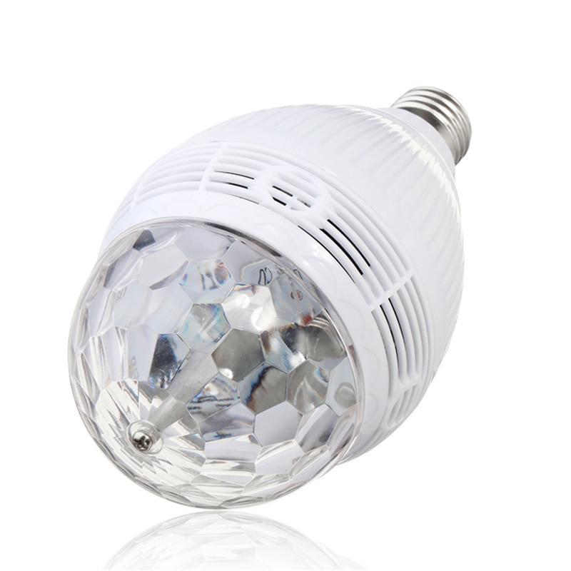 E27 цветной Авто вращающийся RGB светодиодный светильник, сценический светильник, вечерние лампы, диско-светильник для украшения дома