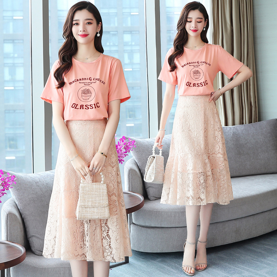 2019 New Style Summer Wear Early Spring Western Style Very Fairy Playful France Non-mainstream Goddess-Style Two-Piece Set
