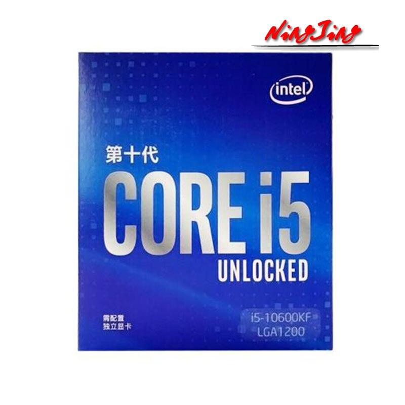 Intel Core i5-10600KF I5 10600KF 4.1 GHz sześciordzeniowy dwunastogwintowy procesor CPU 65W 12M LGA 1200 uszczelniony nowy, ale bez chłodnicy