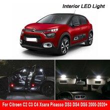 Luz LED Interior para Citroën C2 C3 C4 Xsara Picasso DS3 DS4 DS5 2000 2020 + Kit de luz de lectura Canbus para Interior de vehículo, cúpula, Mapa