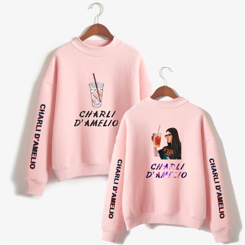 Streetwear Hoodie Harajuku Sweatshirt Charli Damelio Sudadera Mujer No Invierno Homme