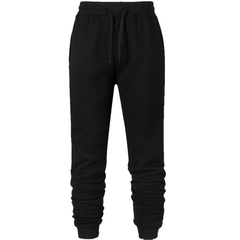 Men Jogger Hip Hop Streetwear Long Pants Sports Sweat Jumpsuit Overalls Winter Hip-hop Wokerwear Joker Black