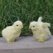 Realistische Harige Baby Chick Levensecht Geluid Kip Pluche Fur Animal Lente Pasen Voor Gift