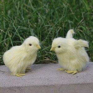 Image 1 - Realistische Harige Baby Chick Levensecht Geluid Kip Pluche Fur Animal Lente Pasen Voor Gift