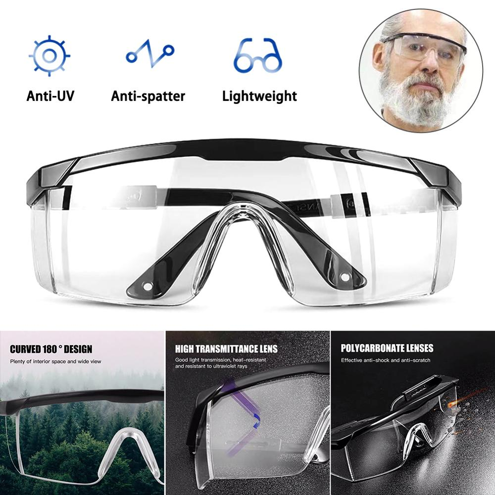 Goggles Glasses Anti-fog Eyewear Biking Adjustable Safety Men Women Enclosed Protective Anti-Splash Anti-Dust Disposable Vent