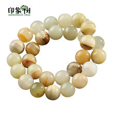 1Pc Natural Afghan Jades Round Stone Beads 4/6/8/10/12/14mm Smooth Round Loose Bead Fit Bracelet DIY Jewelry Makings 1861(China)