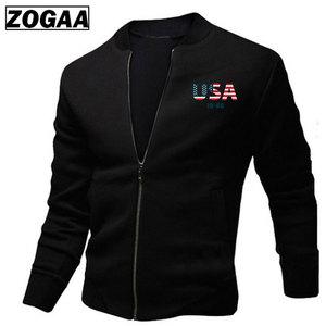3d eua bandeira impresso jaquetas masculinas primavera jaquetas masculino streetwear casacos com zíper jaqueta casual streetwear hip hop fino ajuste casaco