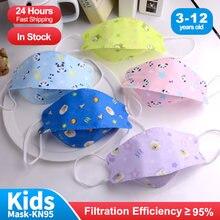 Crianças máscaras fpp2 bonito dos desenhos animados mascarillas ffp2 niños 3-12 envelhecido 4 ply máscara de peixe coreia kn95 mascarilla infantil ffp2mask crianças