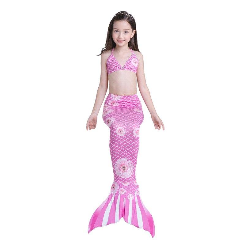 The Mermaid Swimming Foreign Trade Hot Selling Children Mermaid Swimsuit CHILDREN'S Swimwear Three-piece Set