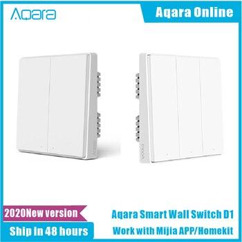 2020 Aqara D1 Smart Wall Switch Zigbee Wireless Remote Control Light Switch Neutral Fire Wire 1/2/3 Button For Mijia HomeKit APP 1