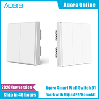 2020 Aqara D1 Smart Wand Schalter Zigbee Drahtlose Fernbedienung Licht Schalter Neutral Feuer Draht 1/2/3 Taste Für Mijia HomeKit APP
