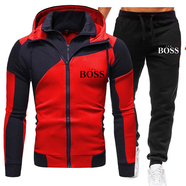 Winter Men's Tracksuit 2 Pieces Set Hoodies+Pants Sport Suits for Men Sweatshirt Zipper Hoodies Men's Clothing Sets Sportswear 3
