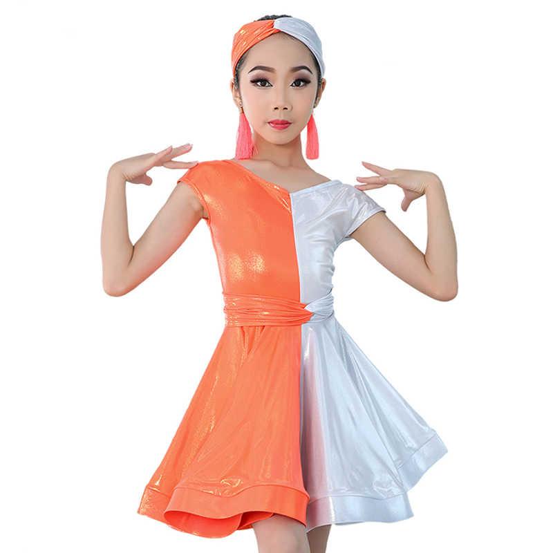 Girls latin competition dress in nylon lycra sleeveless various colours /& sizes
