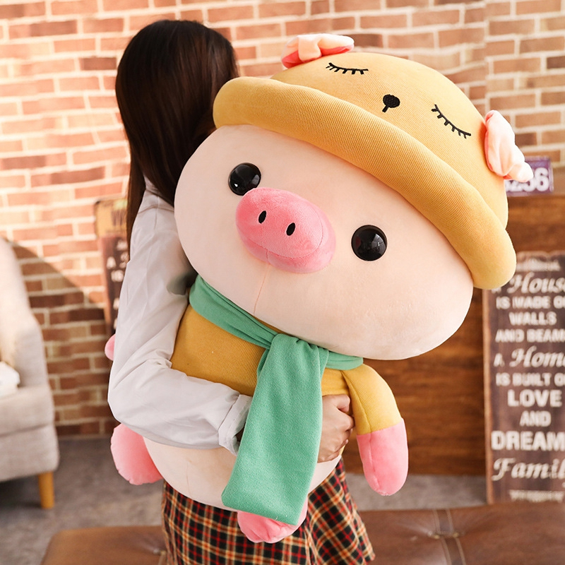 1pc-25-35-50cm-Lovely-Colorful-Pig-with-Clothes-Stuffed-Cute-Animal-Pig-Plush-Toys-for