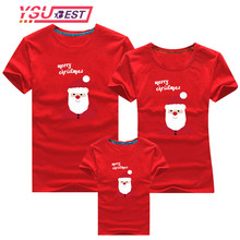 2019 Santa Claus Dad Mom Matching T-shirt Daddy Mommy and Me Clothes Mother Daughter Father Son Outfits Family Look Christmas(China)