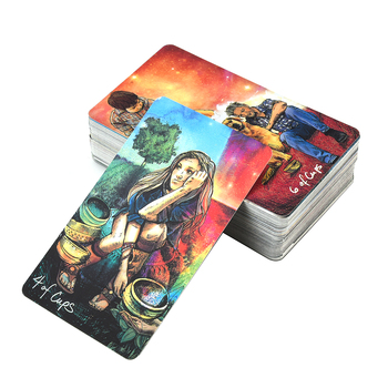 Tarot Cards Light Oracle Cards English  Family  Seer's Deck Board Games Guidance Divination Fate Playing Card недорого