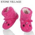 Тапочки для девочек с принтом в виде животных; Мягкие теплые плюшевые детские тапочки; Зимние носки для обуви; Тапочки для мальчиков 2-7 лет