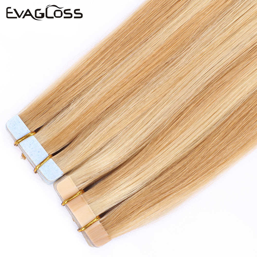 Tape In Human Hair Extensions Lijm Europese Machine Remy Hair Extensions Tape In Haar Gratis Verzending