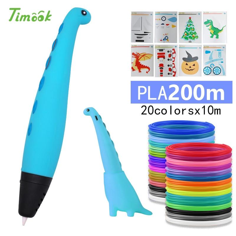 Cute dinosa 3d pen 3d pens with PLA Filament 3d model Creative doodler pen Children gift 3d drawing pen 3d print pen|3D Pens| |  - title=