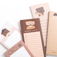 50 Sheets Cute Bear Memo Pad Cartoon Message Note Decorative Notepad Note Check To Do list Paper Stationery School Office Supply