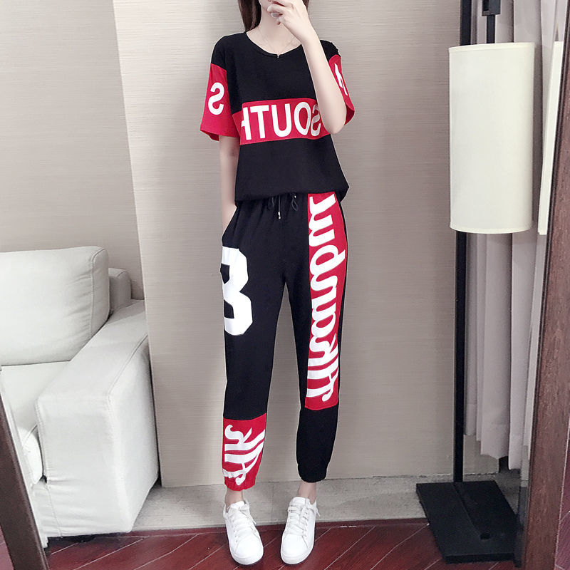 Women's Suits 2 Piece Summer Clothes Short Sleeve Shirts Sportswear Fashion Streetwear Casual Wear Two Piece Set Top And Pants