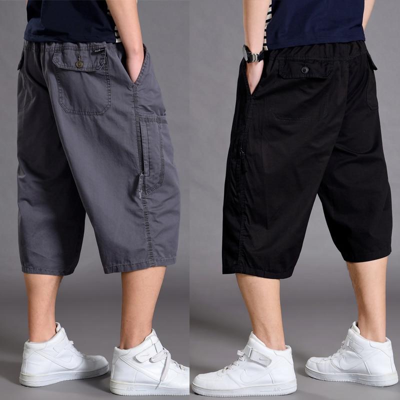 Summer Men Shorts Casual Sport Big Sizes Loose Shorts Men With Pockets Gray Work Jogger Fashion Cotton Roupas Short Cargo XX60MS