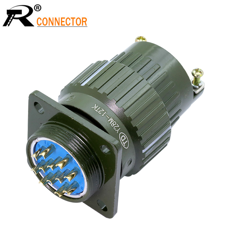 1pc Y28M Series U.S. Military Connector Mil-spec 4 7 8 10 12 14 19 24 32 37 PIN Military Connectors Plug Socket