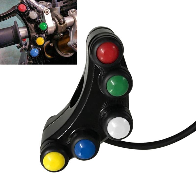 "Motorcycle 7//8/"" Handlebar Mount Headlight//Turn Signal Fog Light //Horn Switch"