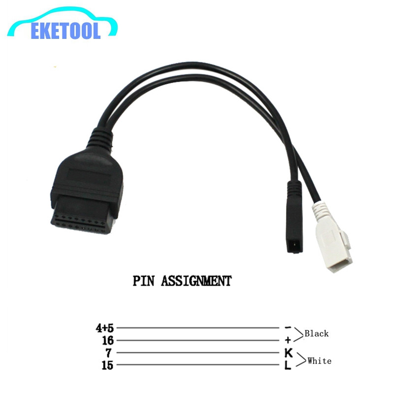 For Audi 2x2 OBD OBD2 2P+2P To 16Pin Connector VAG COM Adapter For Audi 2P+2P To 16Pin Transfer Connector