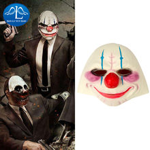 MANLUYUNXIAO Payday Joker Latex Rubber Headgear Cosplay Costume Full Face Halloween Woman Man Children Wholesale(China)