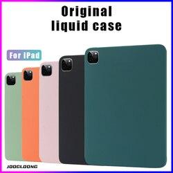 Оригинальный чехол из жидкого силикона для iPad Pro 2020 11 12,9 10,5, чехол для iPad Mini 5 10,2 2019 Air 4 3, чехол для iPad 2018 9,7 10,9