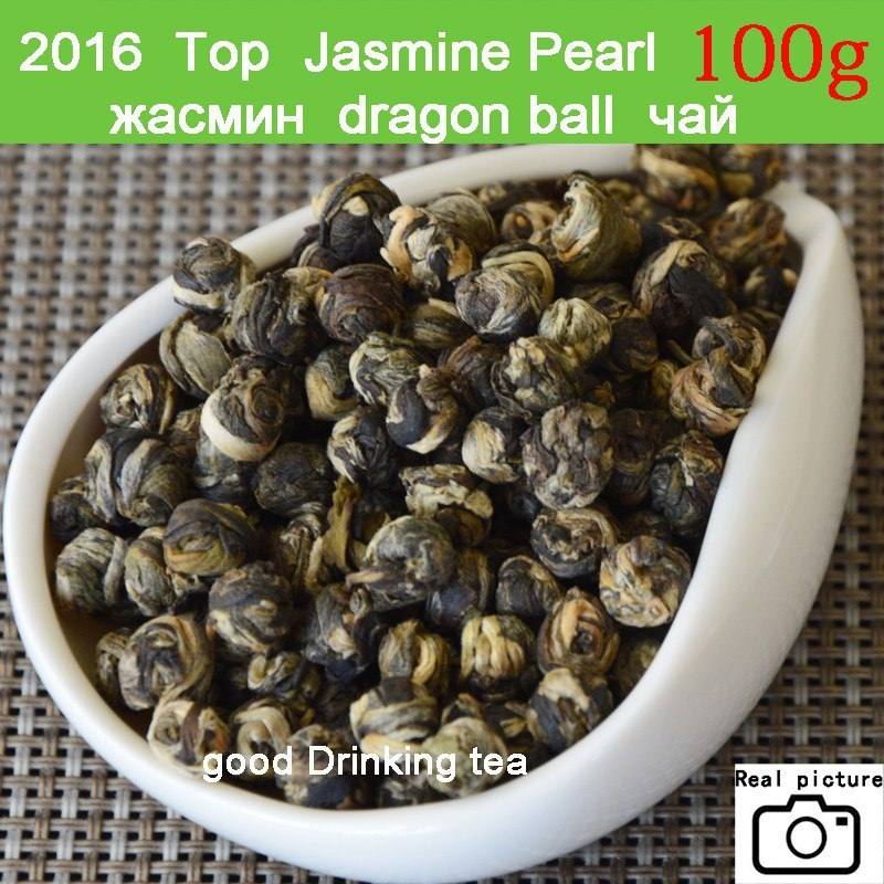 New Fresh Natural Organic Premium Chinese Jasmine Green Tea Jasmine Dragon Pearl Fragrance Slimming Flower Kung Fu Tea