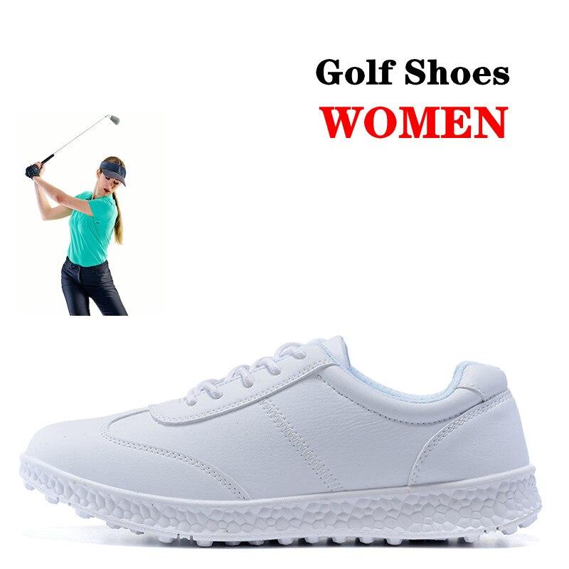 Brand Genuine Leather Ladies Golf Shoes Professional Golf Shoes Waterproof Golf Shoes Women