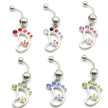 1pc New Sexy Belly Button Rings Navel Piercing Jewelry 14G Surgical Steel Glitter Ombligo Nombril Body Pircing For Women