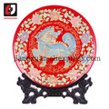 24k gold foil 20 inch feng shui decorating chinese handicrafts porcelain decorative plates