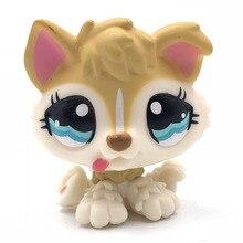 Редкие игрушки для животных, щенков, собак#1013 Желтая Собака с голубыми глазами