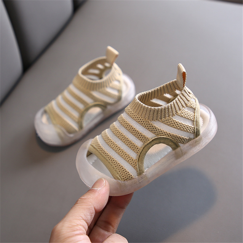 DIMI 2020 Summer Baby Shoes Knitting Breathable Infant Sandals 0-3 Years Old Kid Comfortable Soft Soles Boy Girl Toddlers Sandal