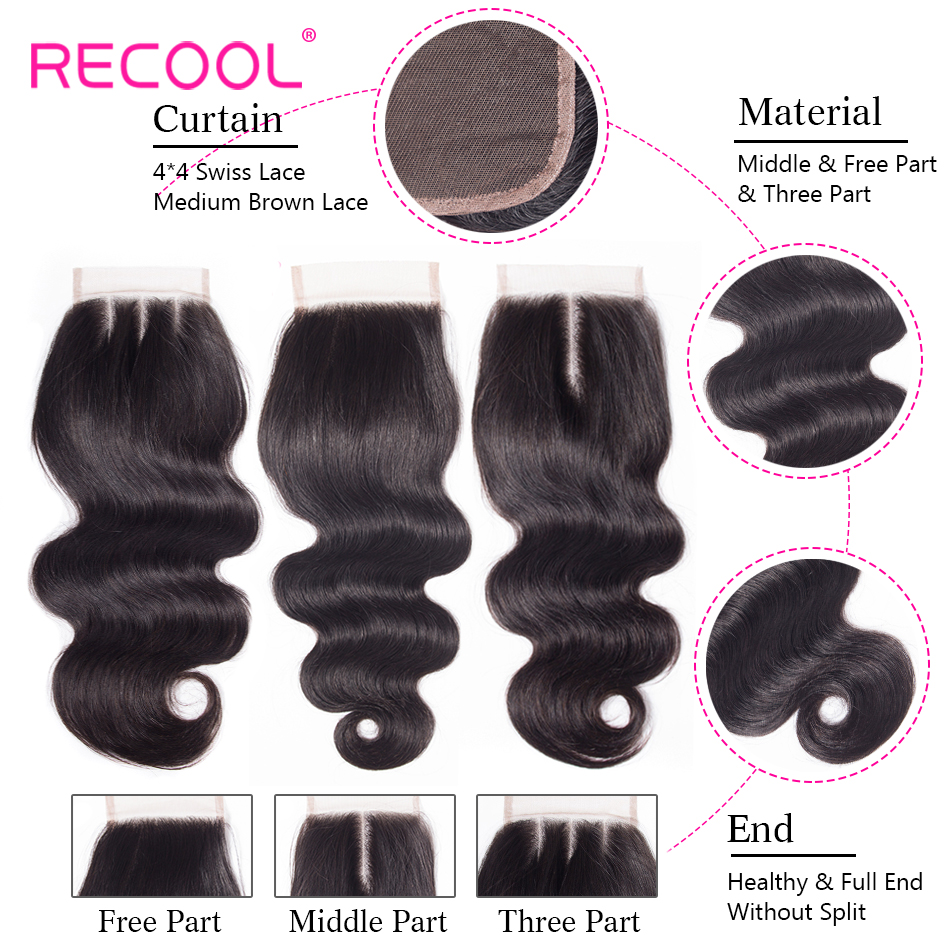 H0010dd5503c94a699d7cc1ff8918cb55y Recool Hair Body Wave Bundles With Closure Remy Hair 6x6 and 5x5 Bundles With Closure Peruvian Human Hair 3 Bundles With Closure