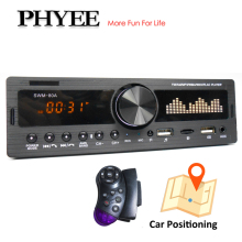 1 din rádio do carro usb mp3 player de áudio bluetooth handsfree a2dp am fm sd aux estacionamento posicionamento iso conector unidade cabeça phyee 80a